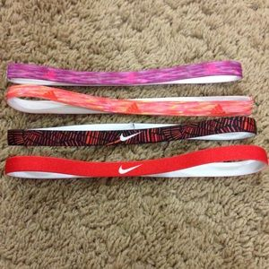 Bundle of Nike and adidas headbands